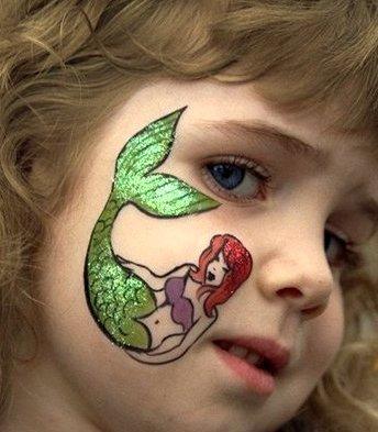 Simple Mermaid Face Paint