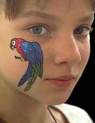 Easy Parrot Face Paint